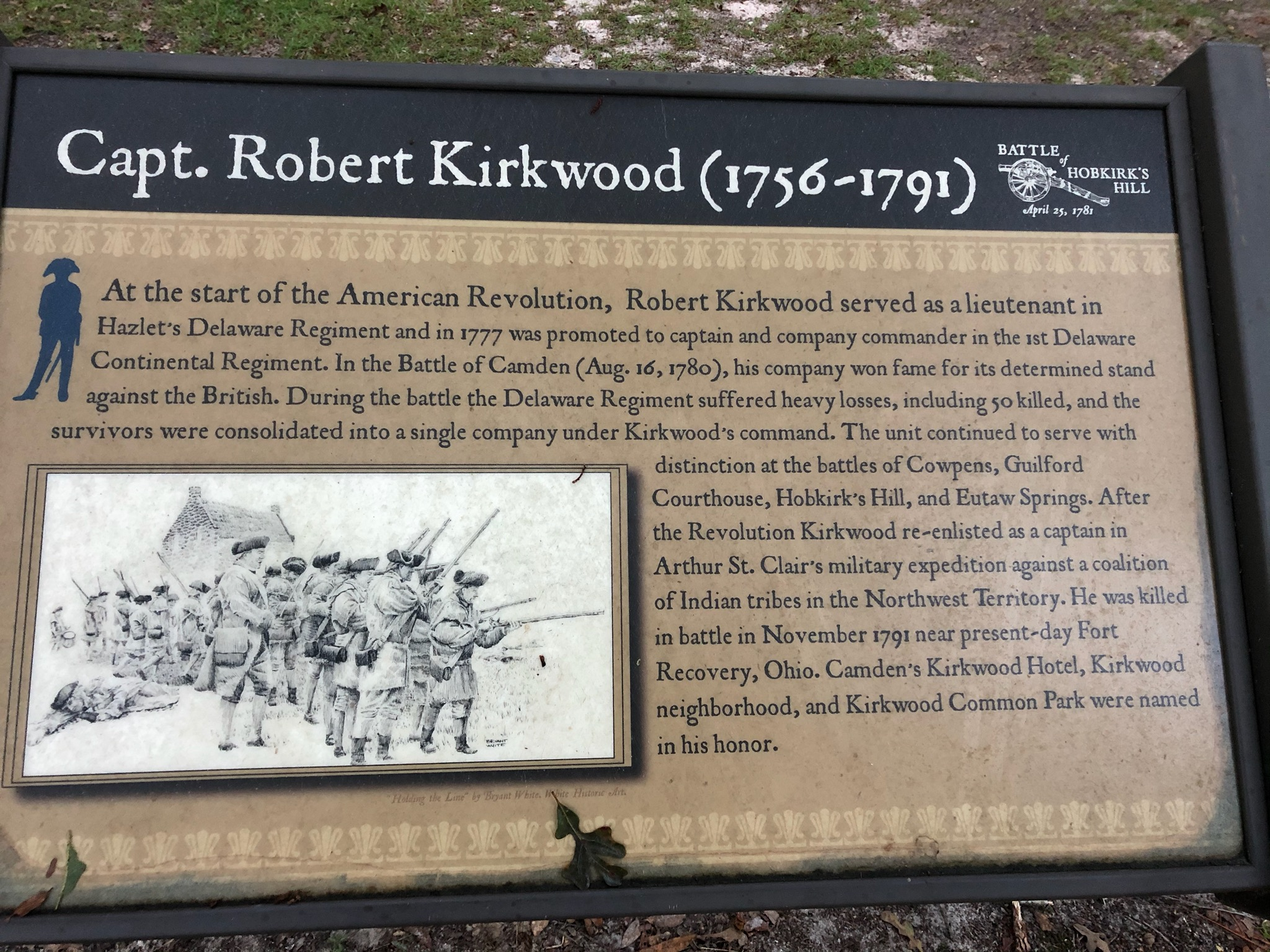 Robert Kirkwood plaque